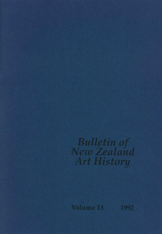 Bulletin of New Zealand Art History