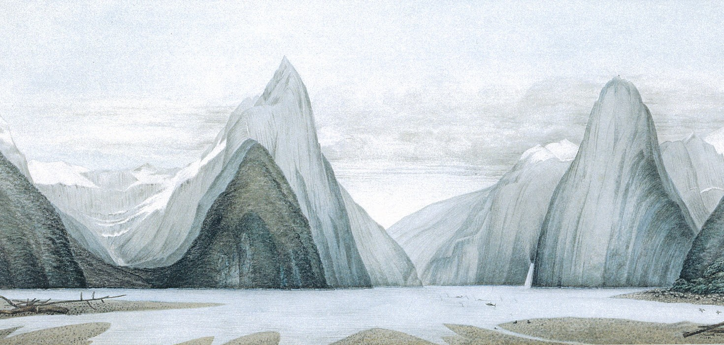 Milford Sound From Freshwater Basin Greeting Cards Prints