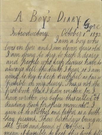 James Herries Beattie's Boyhood Diary